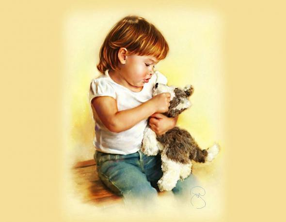 Children portrait and paintings picxtrema for Paintings of toddlers
