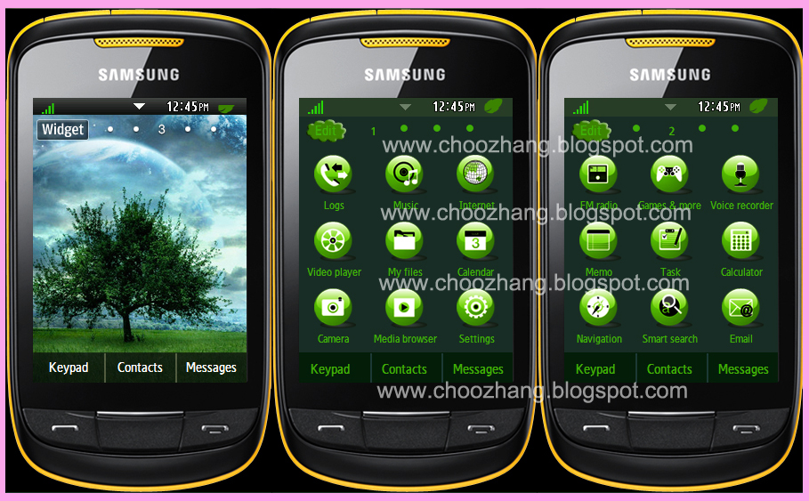 Samsung Corby 2 or S3850 - Nature's Four Seasons Themes