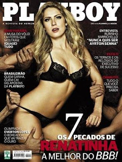 Renata Dvila, Renatinha ex-BBB  a capa da play boy de maio