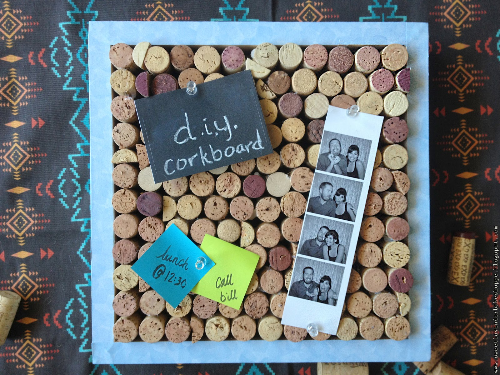 Sweet lavender bake shoppe d i y wine cork cork board for Diy cork board