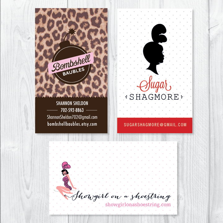 Kimberly Church || Showgirl Businesscards