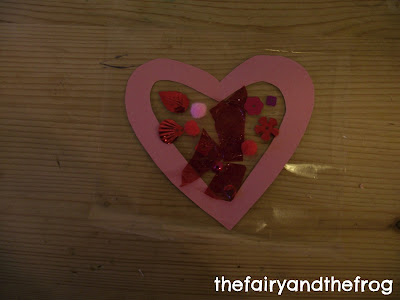 stained glass heart craft