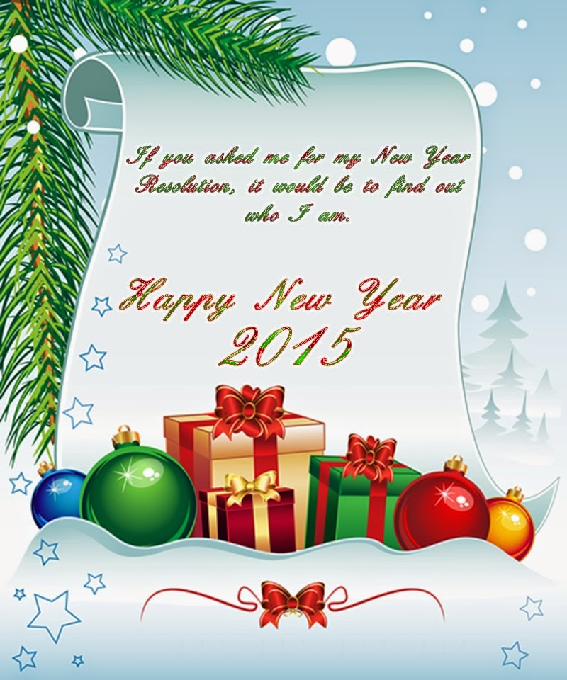 Lovely Holiday Cards Wishing Happy New Year 2015