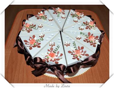 scrapbooking tort z papieru