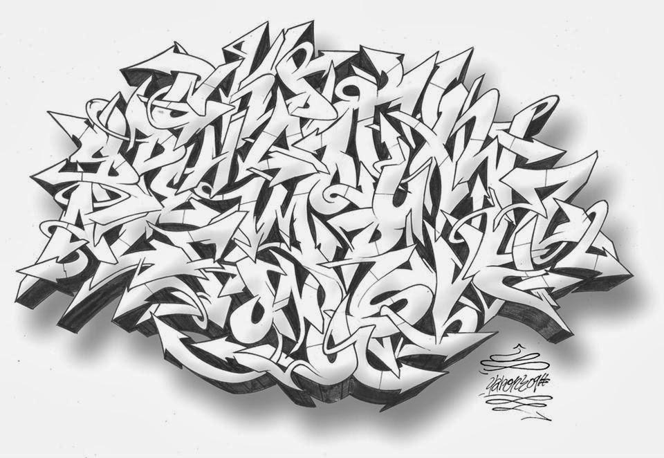 Graffitie graffiti letters wildstyle - Letter a graffiti style ...