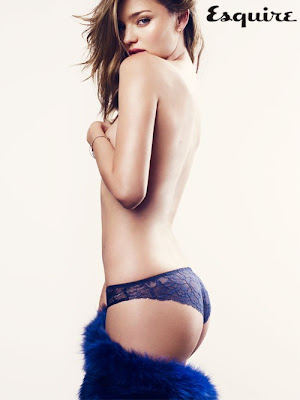 Miranda Kerr goes Topless for Esquire UK Sexiest Woman Alive 2012 December 2012