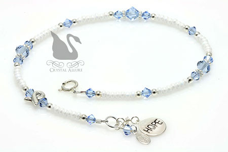 Matia's Custom Behcet's Disease Awareness Anklet (A111)