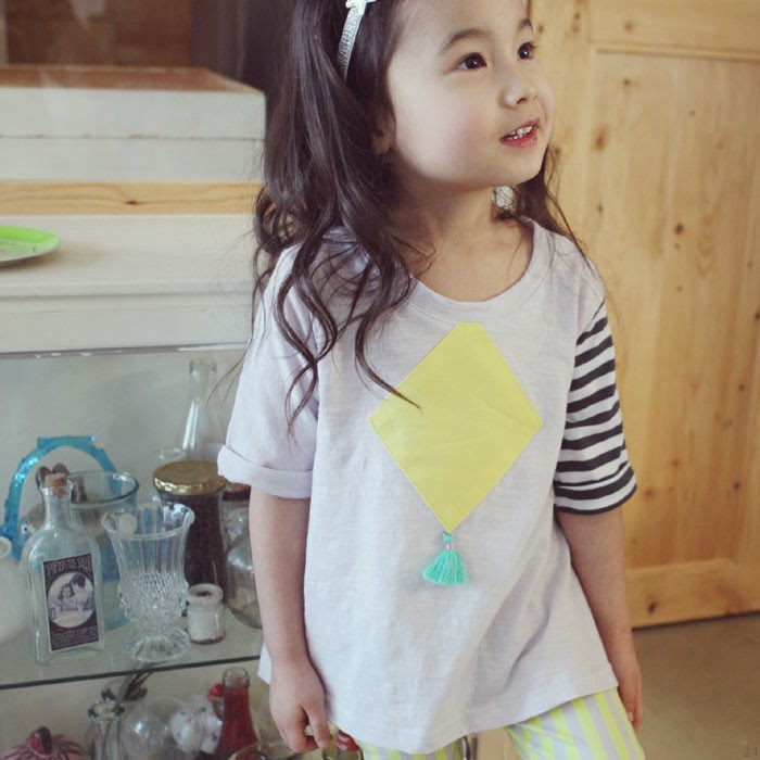 Lila Diamond tee - Jujubunnyshop spring 2014 kids fashion collection