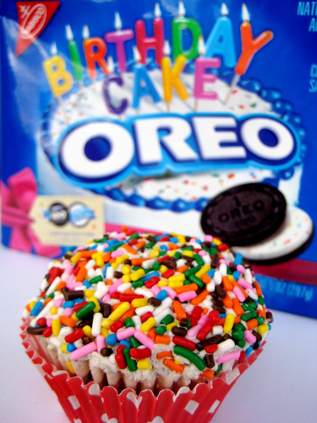 cue the confetti birthday cake oreo cupcakes