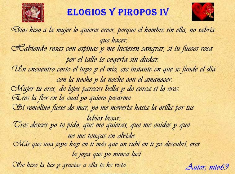 ELOGIOS Y PIROPOS IV
