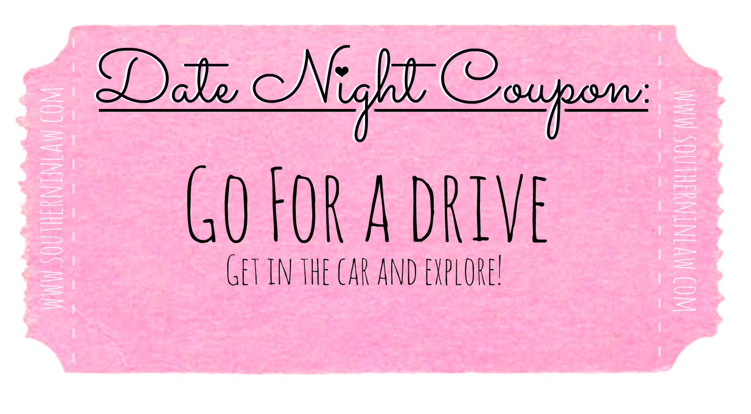 Affordable Date Ideas - Date Night Coupons - Go for a Drive