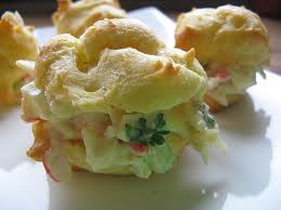 Crab Filled Cream Puffs