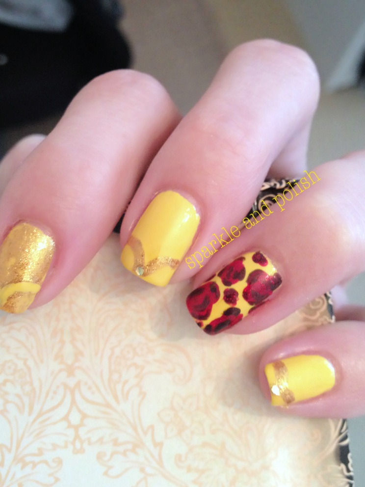 A Little Sparkle and Polish: Disney Nail Art Challenge: Belle