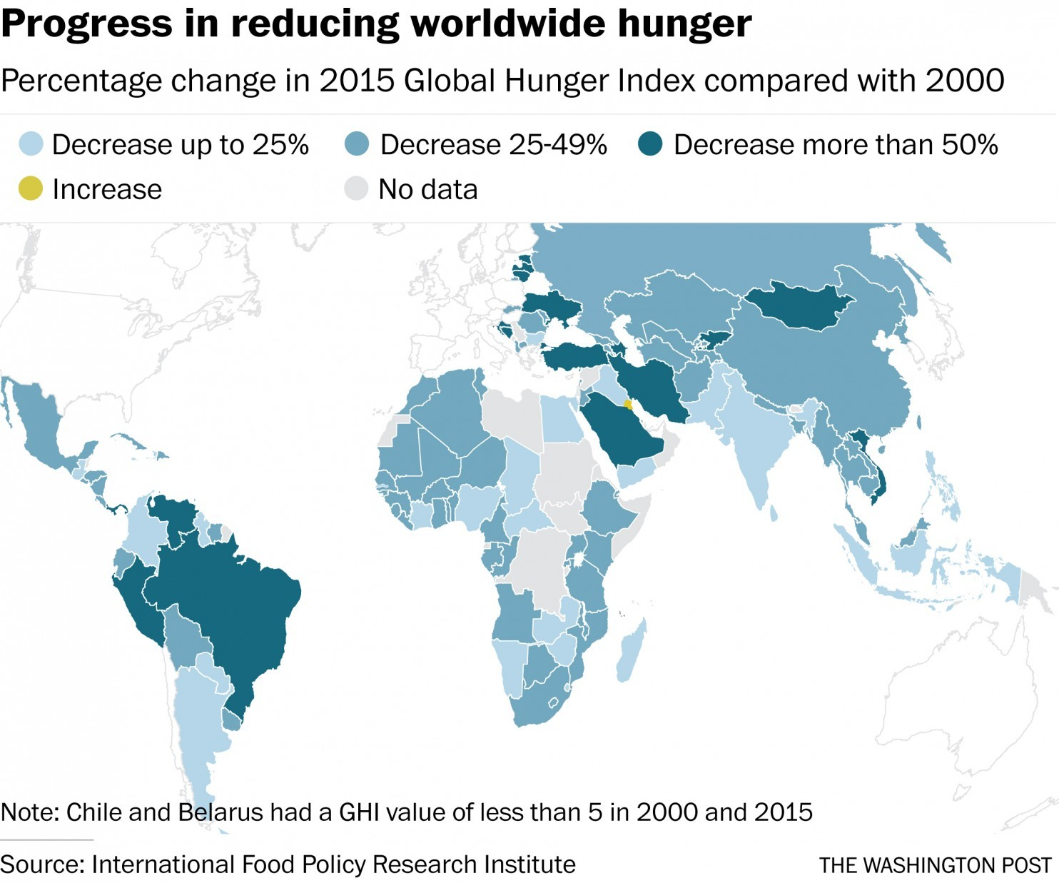 Progress in reducing worldwide hunger