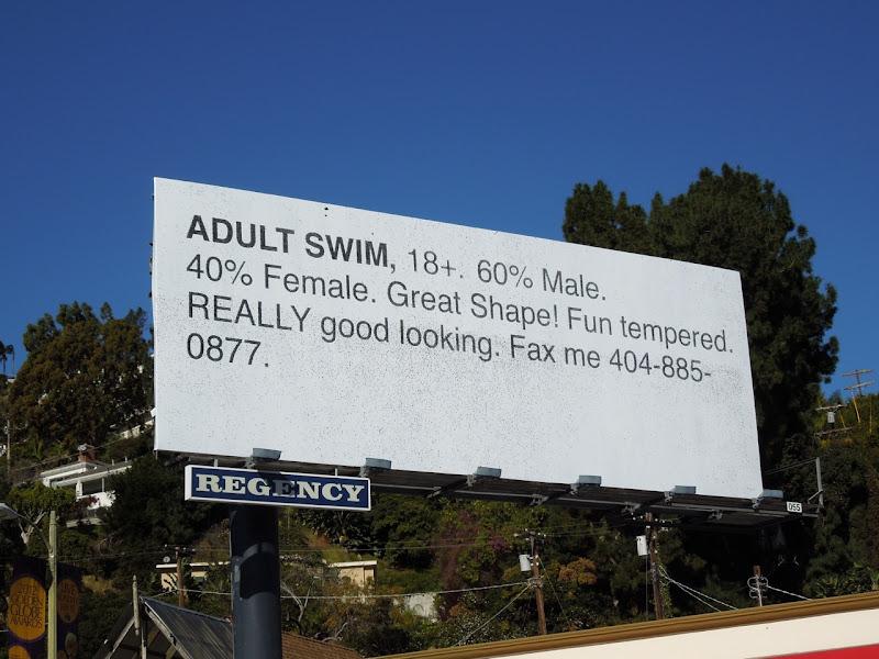 Adult Swim Personal ad billboard