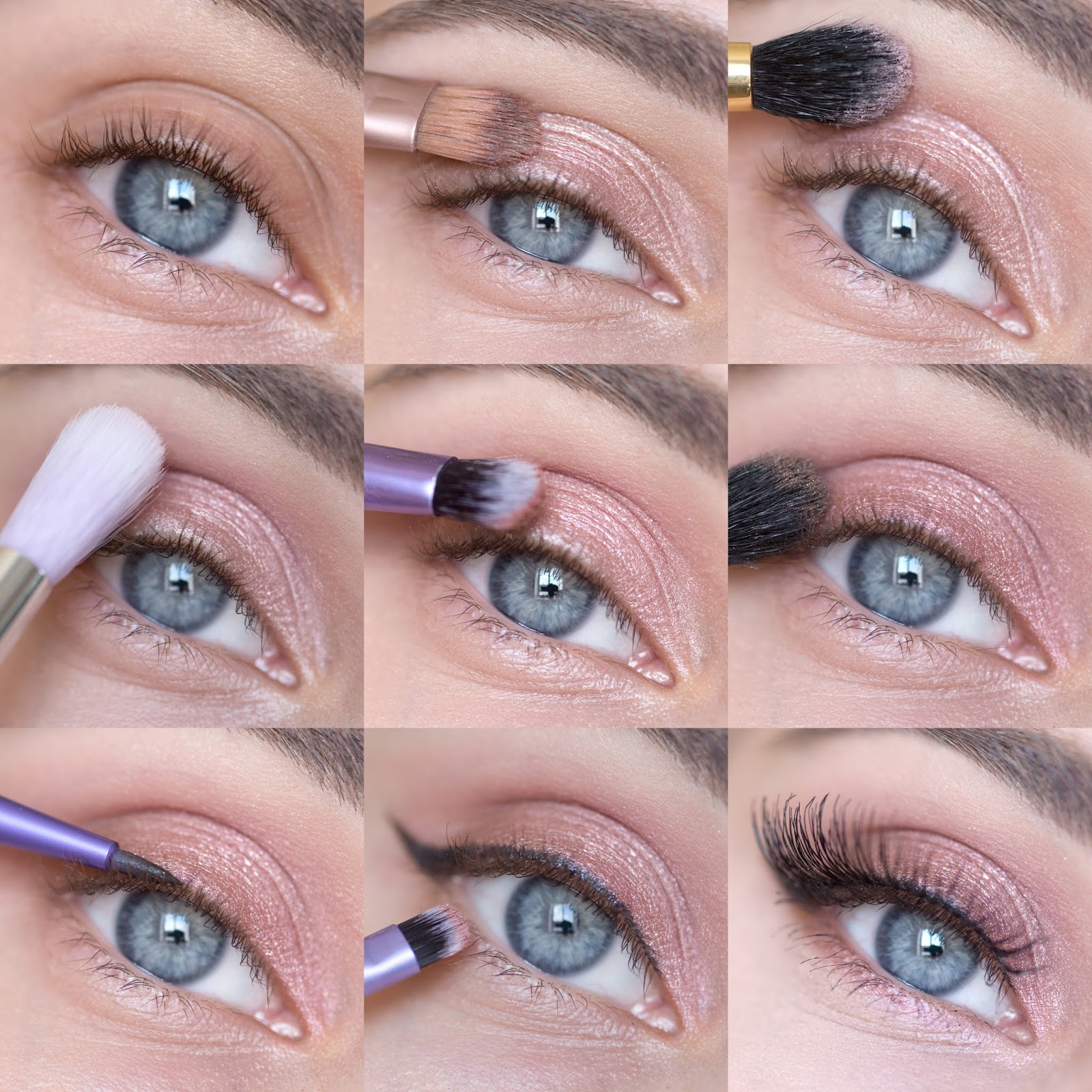 Нюд макияж глаз пошаговое