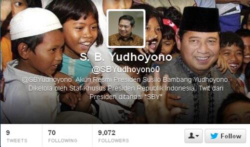 Twitter S. B. Yudhoyono SBYudhoyono0