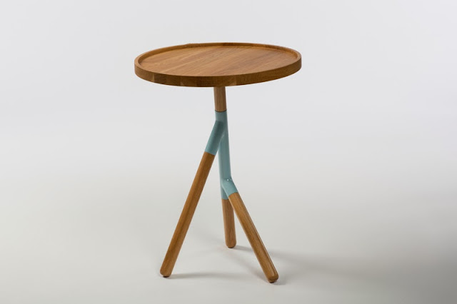 Teepee table by Woodenleg, exhibited at Vernacular at London Design Festival 2013