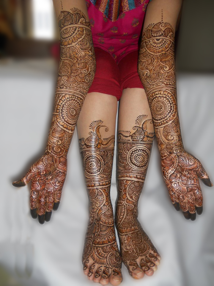 Mehndi Patterns Bridal : Mehndi bridal latest designs