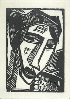 Schmidt-Rottluff, Frauenkopf, Holzschnitt 1916, 25,7 x 17,9 cm