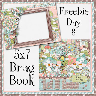 Let It Snow 5x7 Brag Book Freebie Day 8