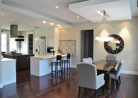 Salle De Bain Style Romantique : Kitchen Dining Room Lighting Ideas