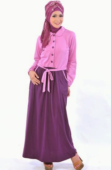 baju gamis wanita casual trendy