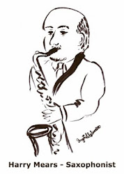 Caricature of Harry Mears - Saxophonist