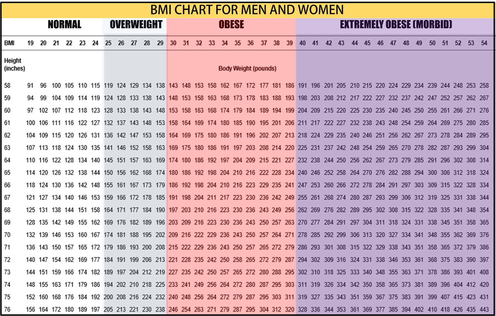 Weight Chart For Men Radiotodorock