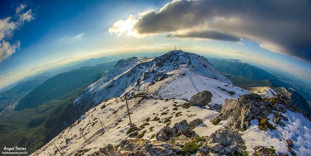 Nieve en la Sierra de la Pandera