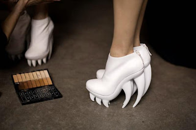 Scary Shoes, Crazy Shoes, White Shoes