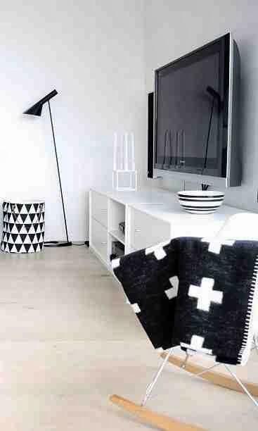 Bujane krzesło Eames, Monochromatyczne wetrze i skandynawskie wzory