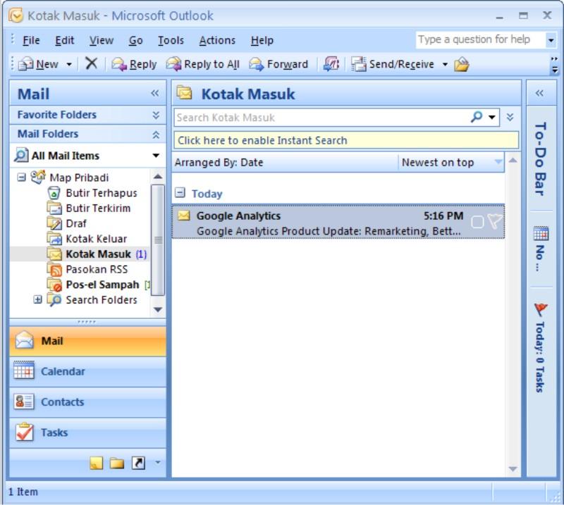 To-Do Bar Microsoft Outlook 2007