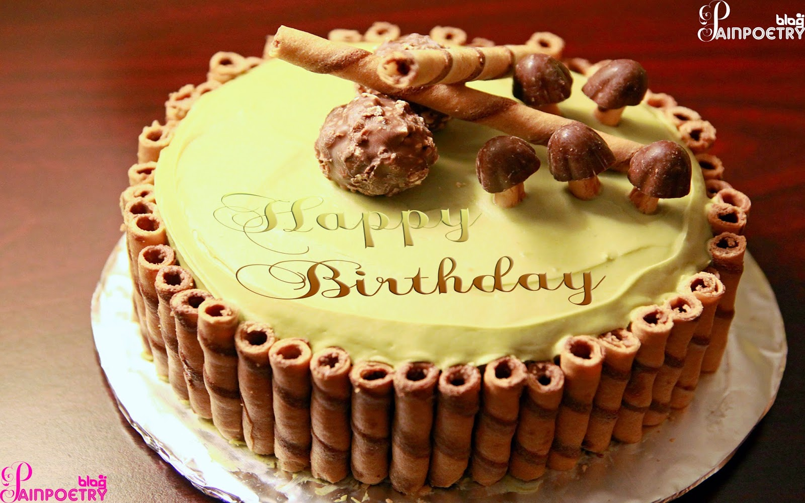 Images Of Cake With Wishes : Happy Birthday Wishes Wallpapers With Cakes Images And ...