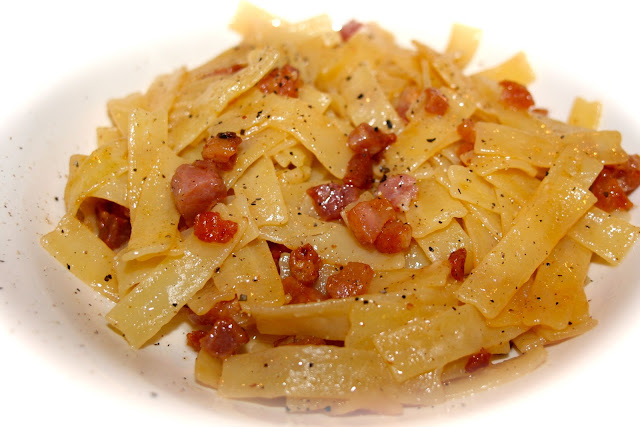 Pancetta in a butter sauce