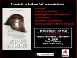Presentación de La Guerra Civil como moda literaria