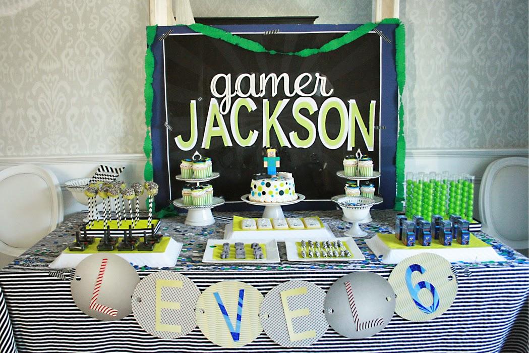 video game, birthday party, minecraft birthday cake, vintage birthday