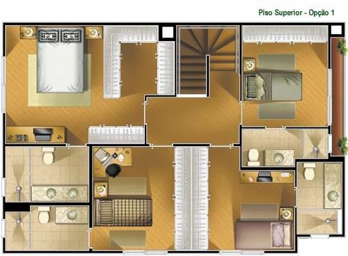 Planta de casa sobrado de 140 m2 plantas de casas for Casa online