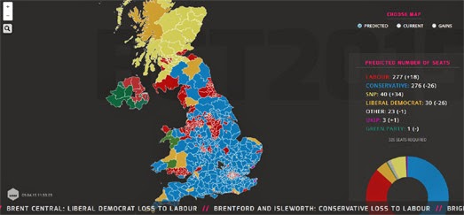 the uk general election is now only one month away at this stage in the campaign trail we would usually expect to see a few election maps released by the