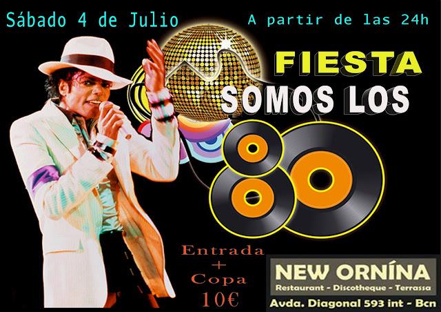 Flyer Fiesta Somos Los 80