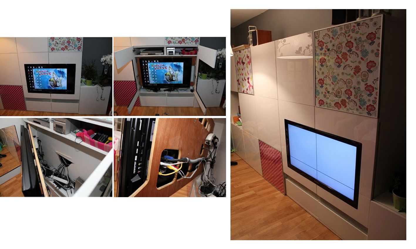 reciclar, redecorar y transformar mueble besta de ikea en decoración