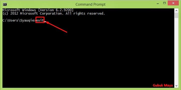 Bagaimana Menutup Jendela Command Prompt