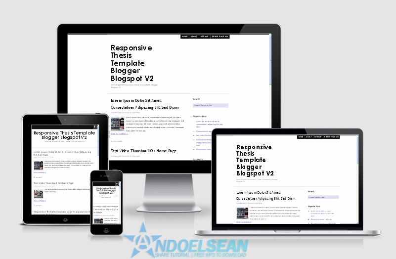Blogger tempelate seo friendly responsive Thesis v2