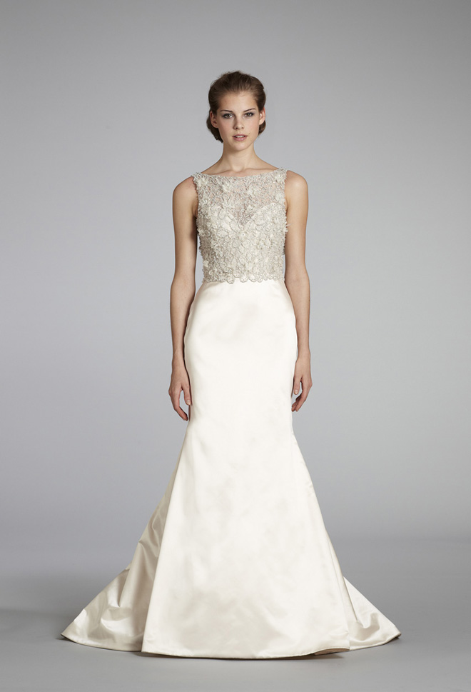 Wedding Dress Skirt And Top Of Lazaro Bridal Fall 2012 My Dress Of The Week Belle The