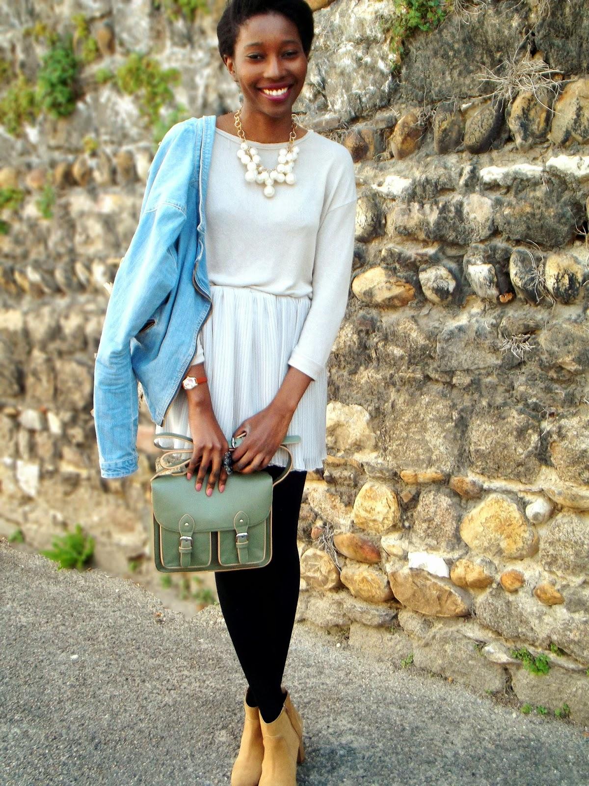 La mini jupe plissée pastel
