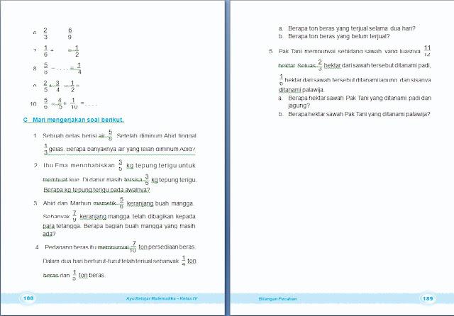 Matematika Bilangan Pecahan Bab 6 Kelas 4 Sd Arrayhan E Learning