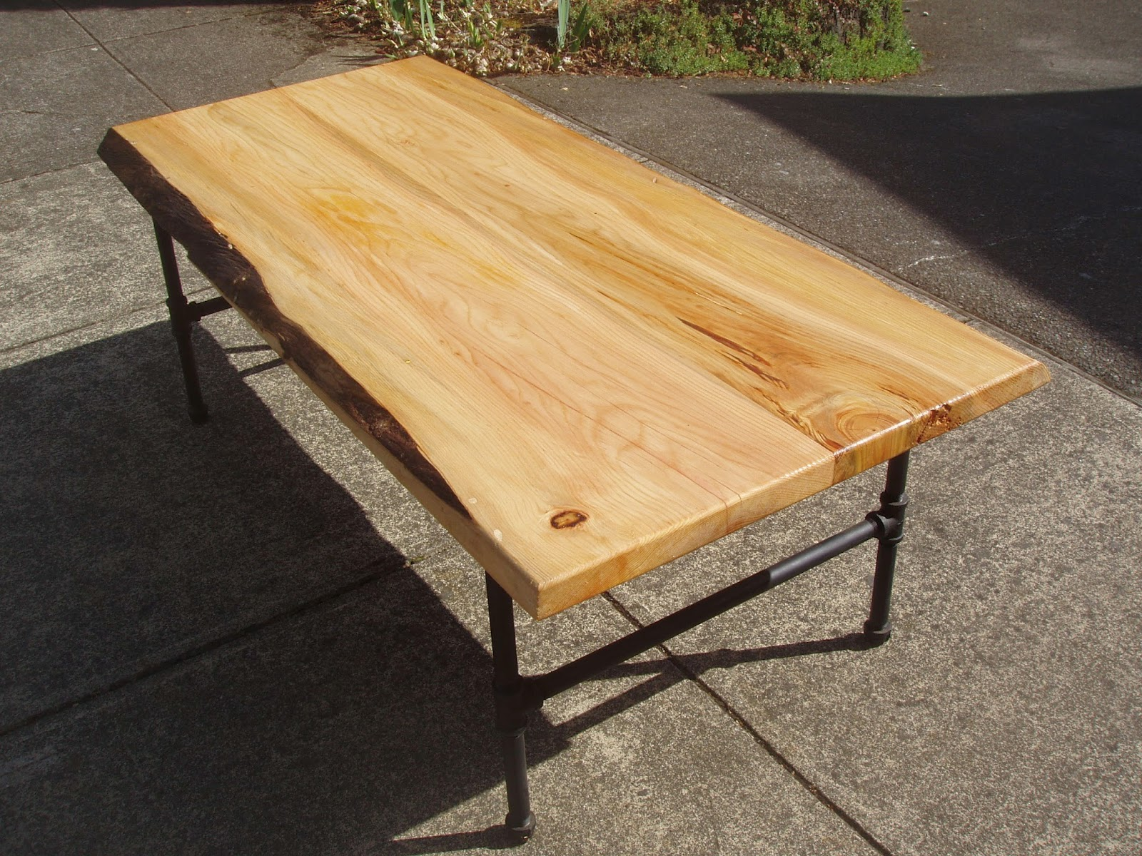 Driftedge Woodworking Live Edge Cedar Coffee Table With Steel Pipe Legs Sold