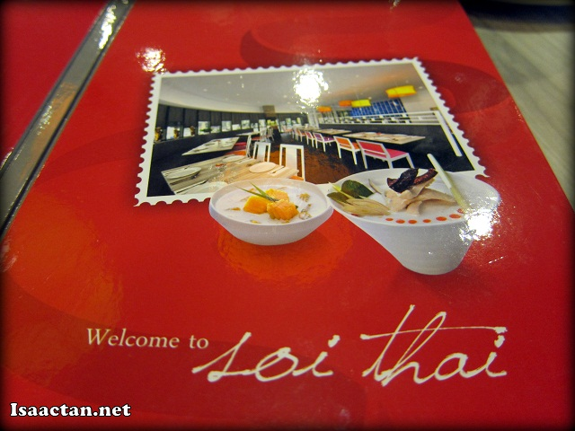 Welcome to Soi Thai, so says the menu book