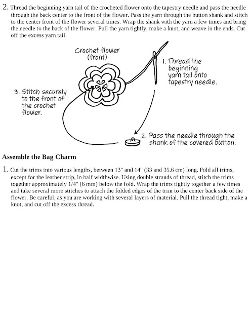 Cotton Flower Bag Charm