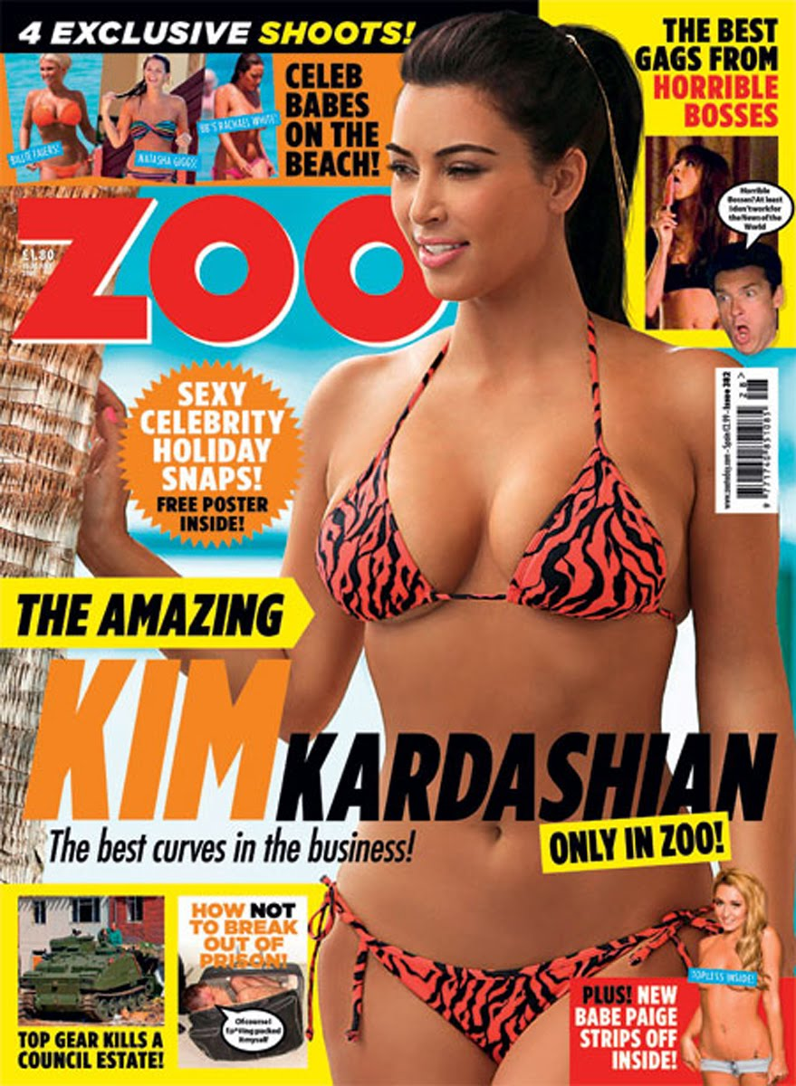 Kim wore here thief Lucy Vincent Pink Bikini and Gold Hair Piece.